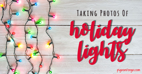 how to take photos of winter lights